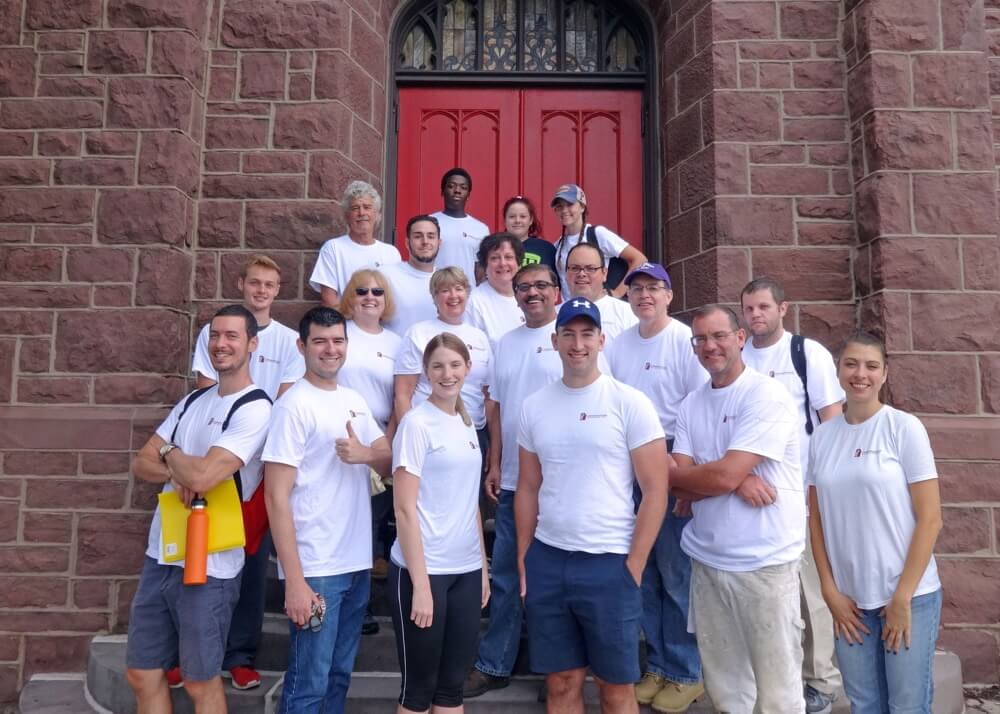 Conshohocken UMC Volunteers on outreach program