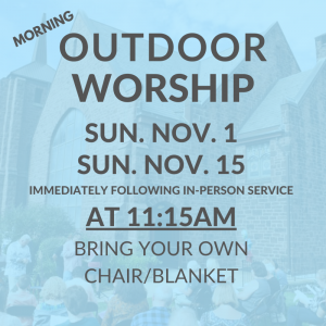 Outdoor Worship November 2020